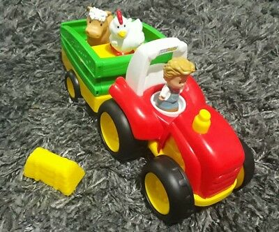 Fisher price little people tractor,farmer immaculate condition old McDonald