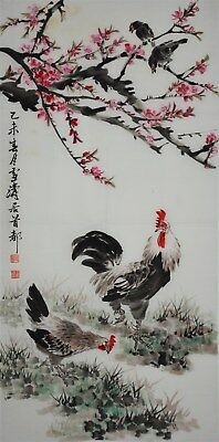 Fine Large Chinese Painting Signed Master Wang Xuetao Rare Hn3819