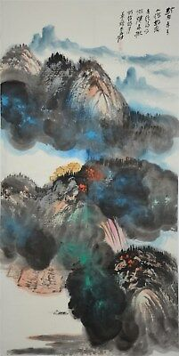 Magnificent Large Chinese Painting Signed Master Zhang Daqian Rare Rj7199