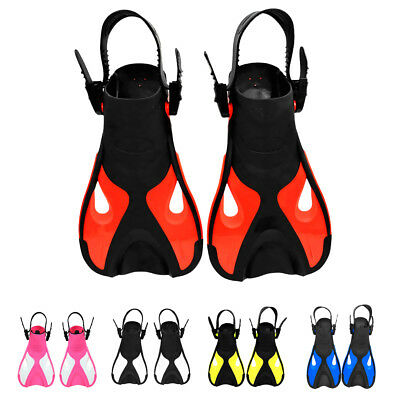 Junior Kids Children Scuba Diving Swimming Traning Fins Flippers Open Heel