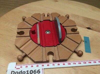 Large 8 Way Turntable - Wooden Train Track (BRIO, Thomas etc)