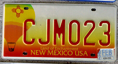 New Mexico Hot Air Balloon License Plate with a 2002 Sticker