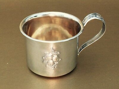 Sterling Silver Webster Baby Cup with Goldwash Inside, Excellent