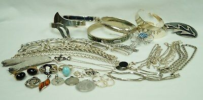 Lot of 294 grams of 925 silver sterling mixed jewely wearable or scrap.