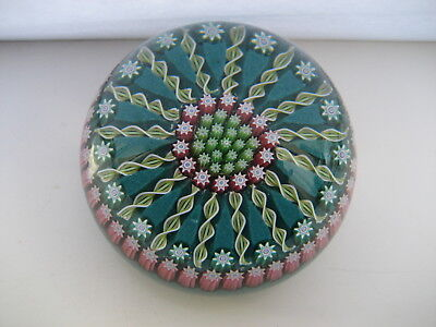 Perthshire Glass Pp62   Millefiori Spoke Pattern   Paperweight , P Cane & Label