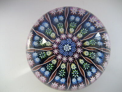 Perthshire Glass Pp2, Medium Millefiori  Paperweight, Central P Cane