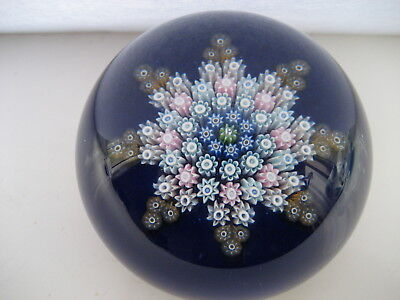 Perthshire Glass Pp119  Millefiori Star Pattern  Paperweight  ,  Central P Cane