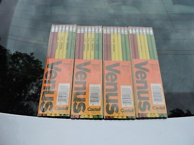Vintage Venus Pencils Lot of 28 FaberCastell No. 2  Non-Toxic Finish USA NOS