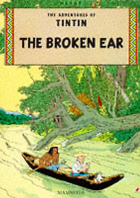 The Broken Ear (The Adventures of Tintin)-ExLibrary