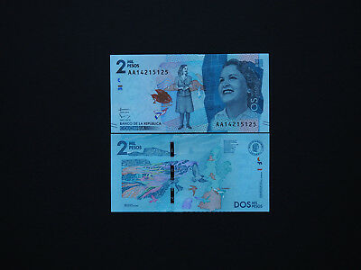 COLOMBIA BEAUTIFUL NEW ISSUE 2000 PESOS   p458   2016    COLOURFUL  *MINT UNC*