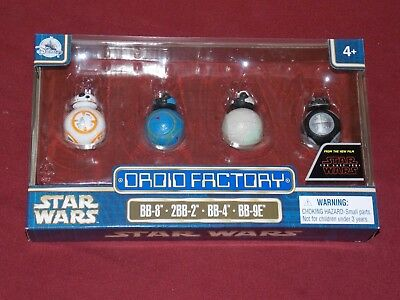 Disney Park Star Wars Last Jedi 4 Figure BB-8 2BB-2 BB4 BB-9E Droid Factory 2017