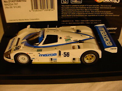 DSlot43 143 Mazda 787B #56 White Le Mans 1991 D1431040102 MB 1:43 scale Kyosho