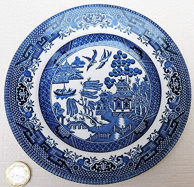 Churchill Willow Pattern side plate blue and white tableware 6.75 inch tea plate