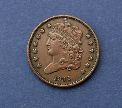 1832 Half Cent Classic Head Beautiful Coin