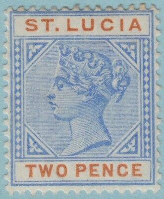St. Lucia 30  Mint Hinged Og *   No Faults Extra  Fine !