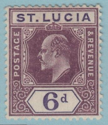 St. Lucia 54  Mint Hinged Og *   No Faults Extra  Fine !