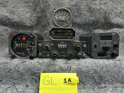Lot of 4 Airplane Gauges and 1 radio GL1A