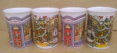 4 x DUNOON CHRISTMAS MUGS by SUE SCULLARD CAT and CHRISTMAS TREE Design - Perfec