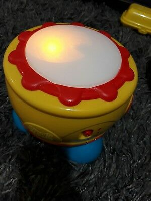 grow and play musical light colour toddler kids spinning drum toy excellent cond