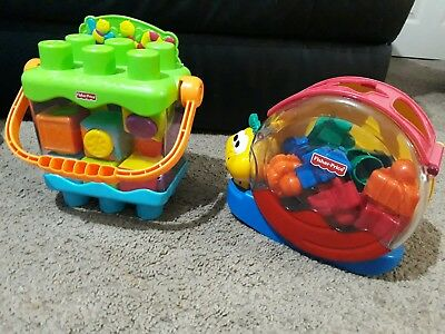 fisher-price musical snail and blocks toy bundle educational toys