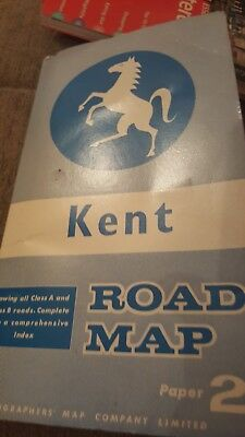 Kent County Road Map by Geographers' A-Z Map Company (Sheet map, folded)