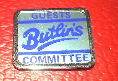Butlins Guest Committee Badge Very Good Condition Late 1970's