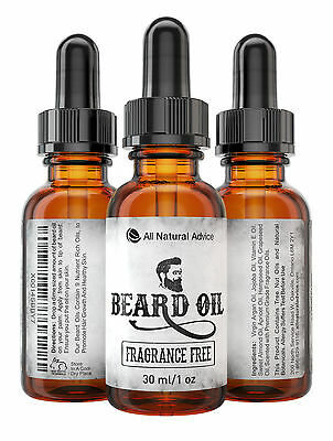 Beard Oil - All-Natural and Organic Leave-In Conditioner for Men- Fragrance Free