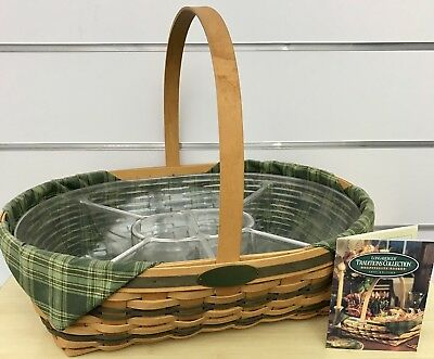 Longaberger Traditions Hospitality Basket Combo with Divided Protector 1998