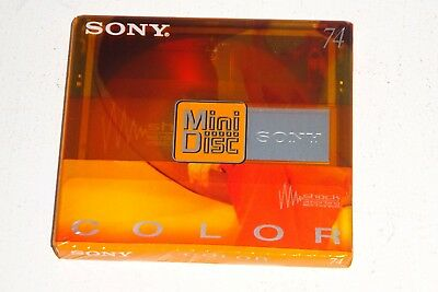 SONY COLOR YELLOW 74 [74 minutes] BLANK MINIDISC SEALED