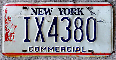 "New York ""Statue of Liberty"" Commercial License Plate"