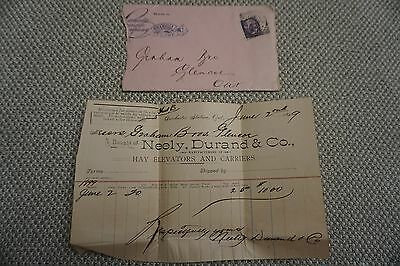 Neely, Durand & Co. Business Invoice - Hay elevators and carriers - June 2, 1899