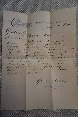 Canada Carriage Company Business Invoice - Brockville, ON - June 10, 1899