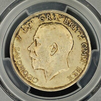 1/2 Crown 1915 PCGS AU58 Great Britain S-4011 Silver Coin Great Luster