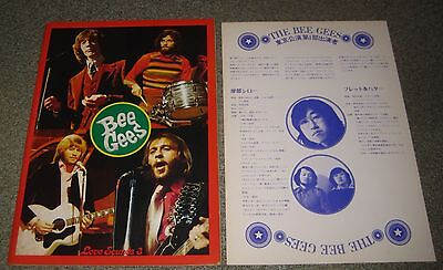THE BEE GEES Japan 1972 tour book with INSERT original CONCERT PROGRAMME