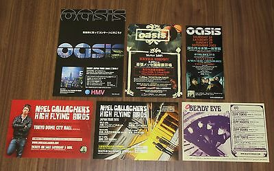 Free ship! OASIS & related JAPAN PROMO flyer x 6 set NOEL GALLAGHER Beady Eye