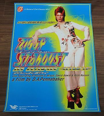 DAVID BOWIE Japan PROMO ONLY 1997 ZIGGY STARDUST movie POSTER more DB listed