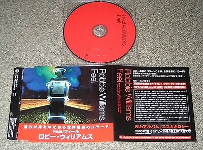 ROBBIE WILLIAMS Japan PROMO ONLY CD single FEEL 2 track TAKE THAT more RW listed