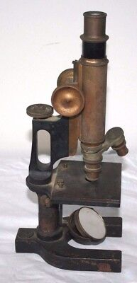 Antique Vintage Bausch & Lomb Optical Microscope Scientific 65333 Brass Heavy NY