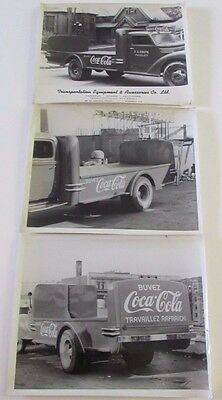 Vtg Coca-Cola Delivery Truck  Photos FX Gagne Nicolet Montreal Transportation Co