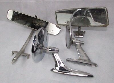 Old Car Mirror Lot Side and Dash Mount Rear View Chevrolet Ford?  Dodge?