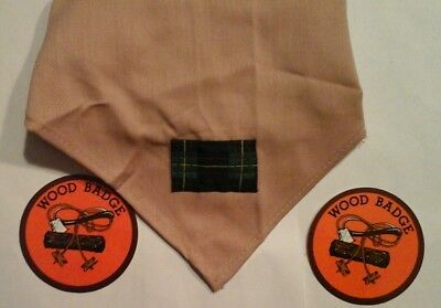 Boy Scout Wood Badge Neckerchief  and Decals