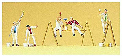 5 People figures Painters with Equipment & Ladders by Preiser N Scale #79177