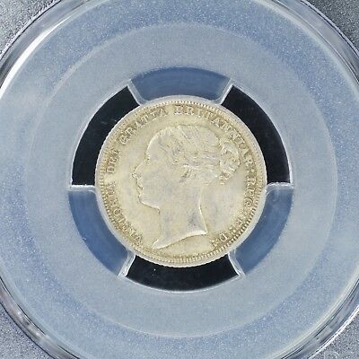 Sixpence 1885 PCGS MS64 Great Britain S-3912 6 Pence Choice UNC Silver Coin