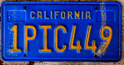 Famous Yellow on Blue California License Plate