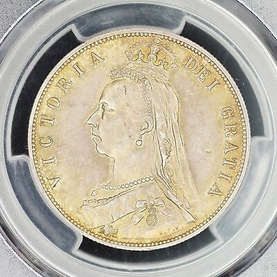 1/2 Crown 1887 PCGS MS64 Great Britain Jubielee Head Choice UNC Half S-3924