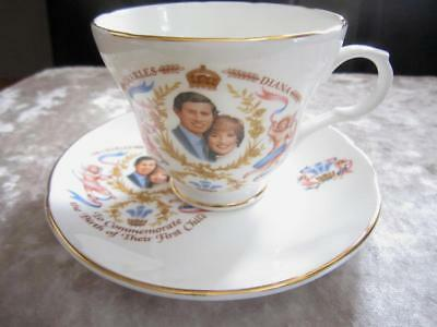 Crown Trent Cup & Saucer Charles & Diana Commemorative Birth of Prince William