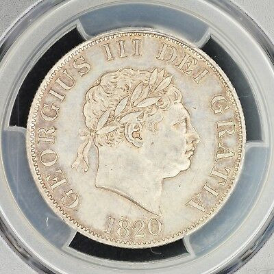 1/2 Crown 1820 PCGS MS62 Great Britain George III Silver Choice UNC S-3789