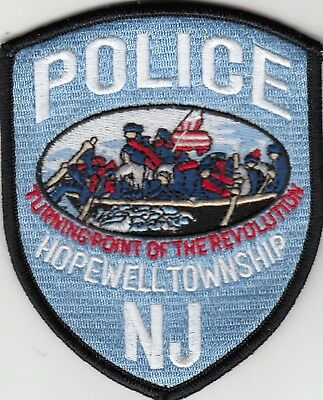 """Hopewell Township Police Patch New Jersey Nj """"turning Point Of The Revolution"""""""