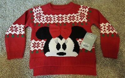 Disney Store Minnie Mouse Christmas sweater size 2 girls