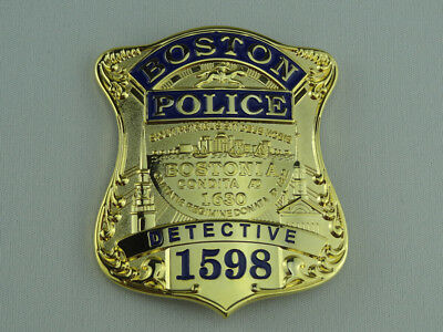 US Boston Detective NO. 1598 Props Metal Collection Badge Cosplay For Fun
